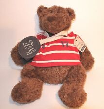 AMERICAN EAGLE RUGBY SHIRT ROSCOE TEDDY BEAR 19 INCH PLUSH STUFFED ANIMAL TOY