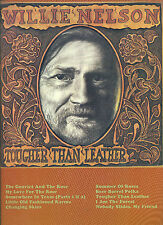 "WILLIE NELSON ""TOUGHER THAN LEATHER"" PIANO/VOCAL/GUITAR CHORDS MUSIC BOOK NEW!!"