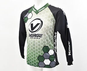 Verge Men's XS V Neck Long Sleeve Classic BMX MTB Jersey With Elbow Pads