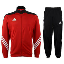 Adidas Football Training Gym Mens Full Tracksuit Red Jogging Bottoms Tops Size