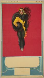 Vintage 1940s Billy Devorss Pin Up Calendar Blank Fine Art Deco  Black Fox Stole