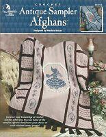 Antique Sampler Afghans Crochet Patterns Marilyn Mezer Annie's Attic 872115 NEW