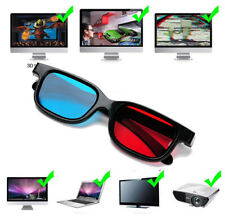 5 Pairs Portable Red Blue 3D Glasses For Dimensional Anaglyph Movie Game DVD