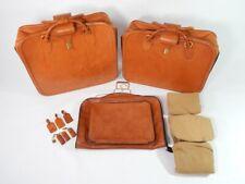 Original Ferrari 355 Complete 3 Piece Schedoni Tan Leather Luggage Set