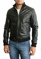 ★Giacca Giubbotto Uomo in di PELLE 100%★ Men Leather Jacket Veste Homme Cuir 3s4
