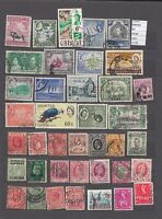 LOT STAMPS BRITISH COLONIES   USED (L43627)