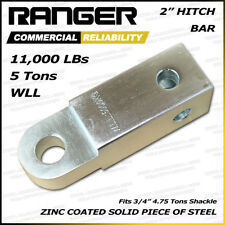 """Ranger 2"""" Hitch Receiver 3/4"""" Shackle D-Ring Adapter 11,000 LBs 5 Tons"""