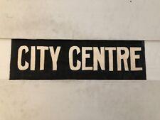 """Glasgow Partick Vintage Linen Tram Bus Blind 25""""- City Centre"""