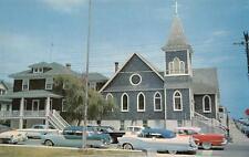 St. Paul's By-The-Sea Episcopal Church Ocean City, Maryland Postcard ca 1950s