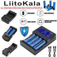 LCD Li-ion Ni-MH 18650 Battery Charger Liitokala Lii-500/402/300/202/100/S1/PD4