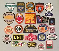Vintage Lot of 25 Variety Mixed Embroidered PATCHES Souvenir VFW Sweden Gamers +
