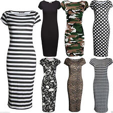 Unbranded Camouflage Viscose Crew Neck Dresses for Women