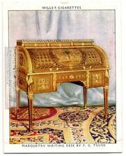 Louis XVI Period Teune Marquetry Writing Desk Funtiture 1930s Trade Card