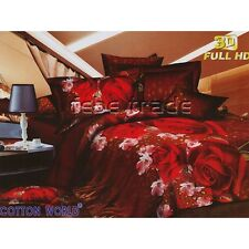 set lenzuola EFFETTO 3D HD letto matrimoniale COPRIPIUMINO 220x200cm 2 piazze m3