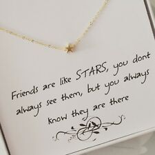 Beautiful Gold Star Boxed fashion Necklace with Gold Plated Chain, Gift, 16''