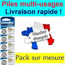 Piles boutons Lithium 3V - Au choix : CR2032 CR2025 CR2016 CR1632 CR1620 CR1616