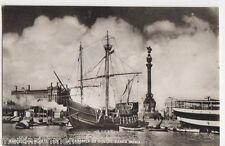 Spain, Barcelona Puerto, La Carabela De Colon, Santa Maria RP Postcard, B428