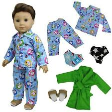 "5pcs Pajamas Nightdress Outfit Doll Clothes for 18"" American Girl Boy Logan Doll"