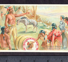 Sleepy Eye Flour pre-1907 Indian Village Lithograph MN Food Advertising PostCard