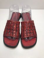 Cole Haan Country Red Leather Sandals  Women's Size 8b Made In Spain