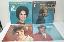 """Lot 4 FEMALE Country 12"""" Vinyl Albums Lot KITTY WELLS, Lynn Anderson, Smith, Lee"""