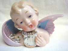 Vintage NAPCO Japan ANGEL BUST w/Roses & Harp #S329B - VERY SWEET