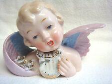 Vintage NAPCO Japan ANGEL BUST w/Roses & Harp #S329B - VERY SWEET