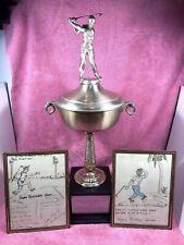 "Medinah Country Club 1968  Harold ""Mush"" March Chicago Blackhawks  Golf Trophy"