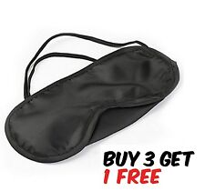 Eye Sleeping Mask Travel Blindfold Shade Blinder Soft Elasticated Rest Aid Uk