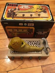Vintage Star Wars Return of the Jedi- JABBA THE HUTT W/ BOX Kenner 1983 Playset