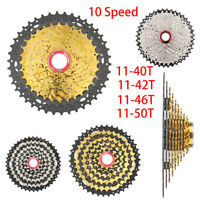 BOLANY 10 Speed Cassette 11-50T/46T/40T MTB Mountain Bike Bicycle Freewheel New