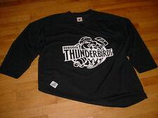 Vtg Dubuque Thunderbirds Hockey Practice Jersey By Pear Black Mens XL CSHL