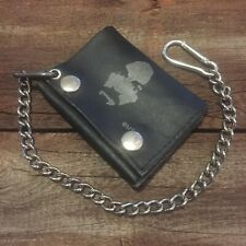 Vintage CHARLES MANSON leather wallet with chain - Rare / Hard to find - Charlie