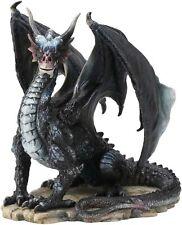 New ListingRare Black Dragon Fantasy Statue Sculpture Collectible Figurine Wise Dragon Art