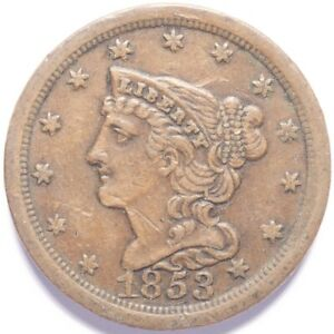 1853 Half Cent Braided Hair