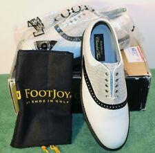 NEW in BOX Men's 11 D M FootJoy Classics Tour Style 51849 White/Black Golf Shoes