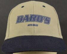 Bard's Auto Sales Tan & Blue Baseball Hat Cap with Adjustable Cloth Strap