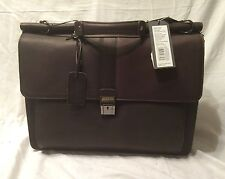"Kenneth Cole ""Rod Light,Green Light"" 16"" Comput. Dowelrod Portfolio Brown 529441"