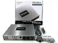 FOCAL FPD 600.4 CLASS D 4 CHANNEL BRIDGEABLE CAR AUDIO AMPLIFIER AMP 600W RMS