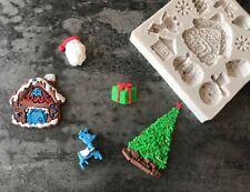 Christmas Silicone Mould Fondant Sugarcraft Chocolate Cake Decorating LG