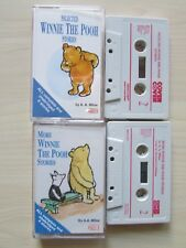 2 X WINNIE THE POOH STORIES CHILDREN'S CASSETTES, 1995 COVER TO COVER, TESTED.