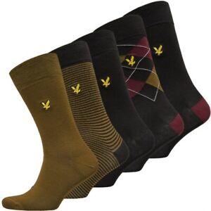 Lyle & Scott Harold 5 x Different Design Pack Premium Cotton Sock Pack 7-11