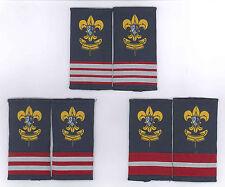MACAU (MACAO) CUBS COUTS APL, PL & SPL Rank SCOUT Epaulettes Patch (3 PAIR SET)