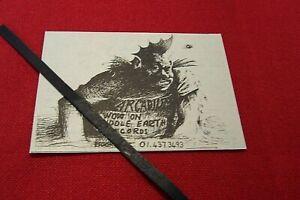 ARCADIUM 1969 ORIGINAL VINTAGE ADVERT MIDDLE EARTH RECORDS PROG ROCK