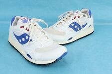 Vintage SAUCONY SHADOW 6000 White/Blue Running Shoes DS NIB Mens Size 9