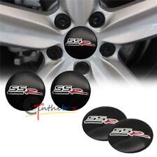 4PCS Black SSR WHEEL CAP STICKER 56.5mm SS Aluminum Car Wheel Center Hub STICKER