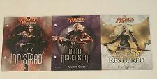 MTG Innistrad Dark Ascension & Avacyn Restored  Player's Guide Lot of 3