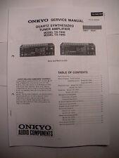 Orginal Serviceanleitung (58 Seiten) in englisch für Onkyo TX 7830 / TX 7840