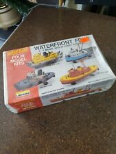"Lindberg ""Waterfront Four� Tug/Tuna/Tow/Fire Boats Kits - Sealed"