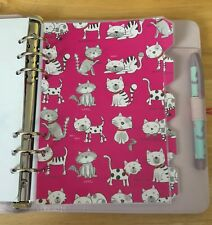 Filofax A5 Organiser Planner - Adorable Pink Cat Dividers - Laminated